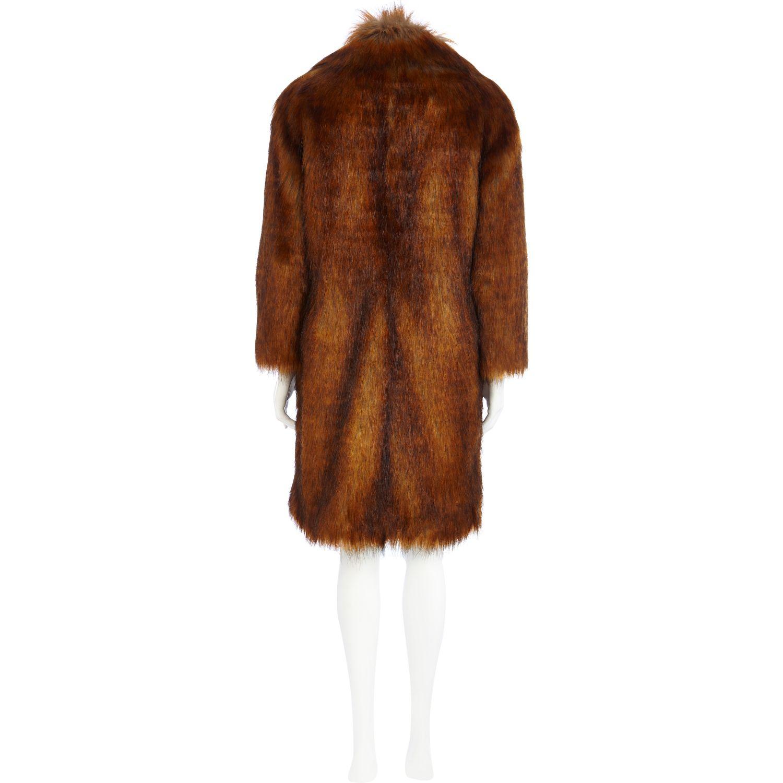 River Island Purple Fur Coat