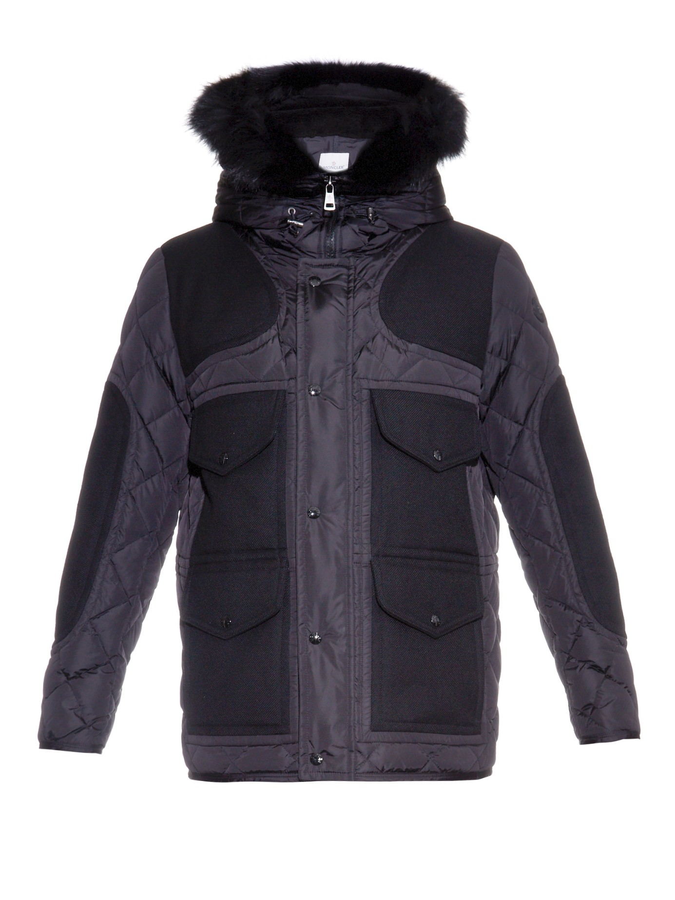 Moncler Gaumont Hooded Quilted Down Jacket In Black For