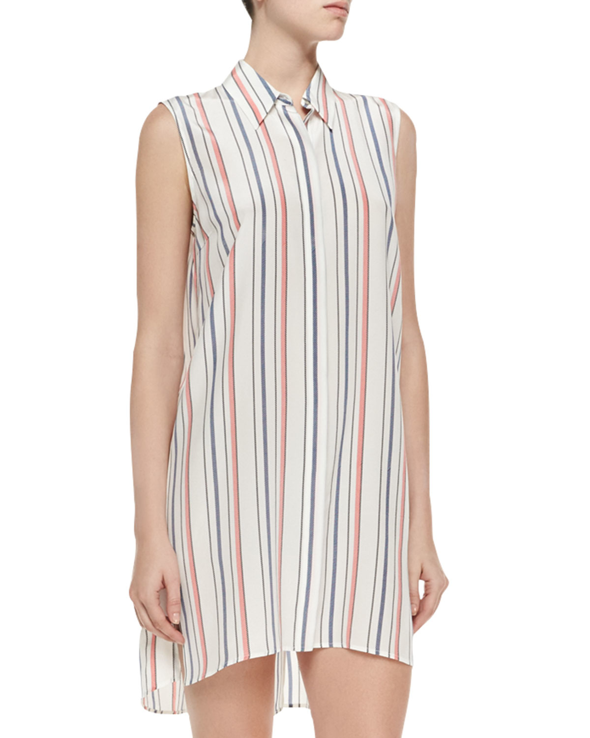 60a09ec823b00e Lyst - Elizabeth and James Sleeveless Striped Rollins Tunic in White