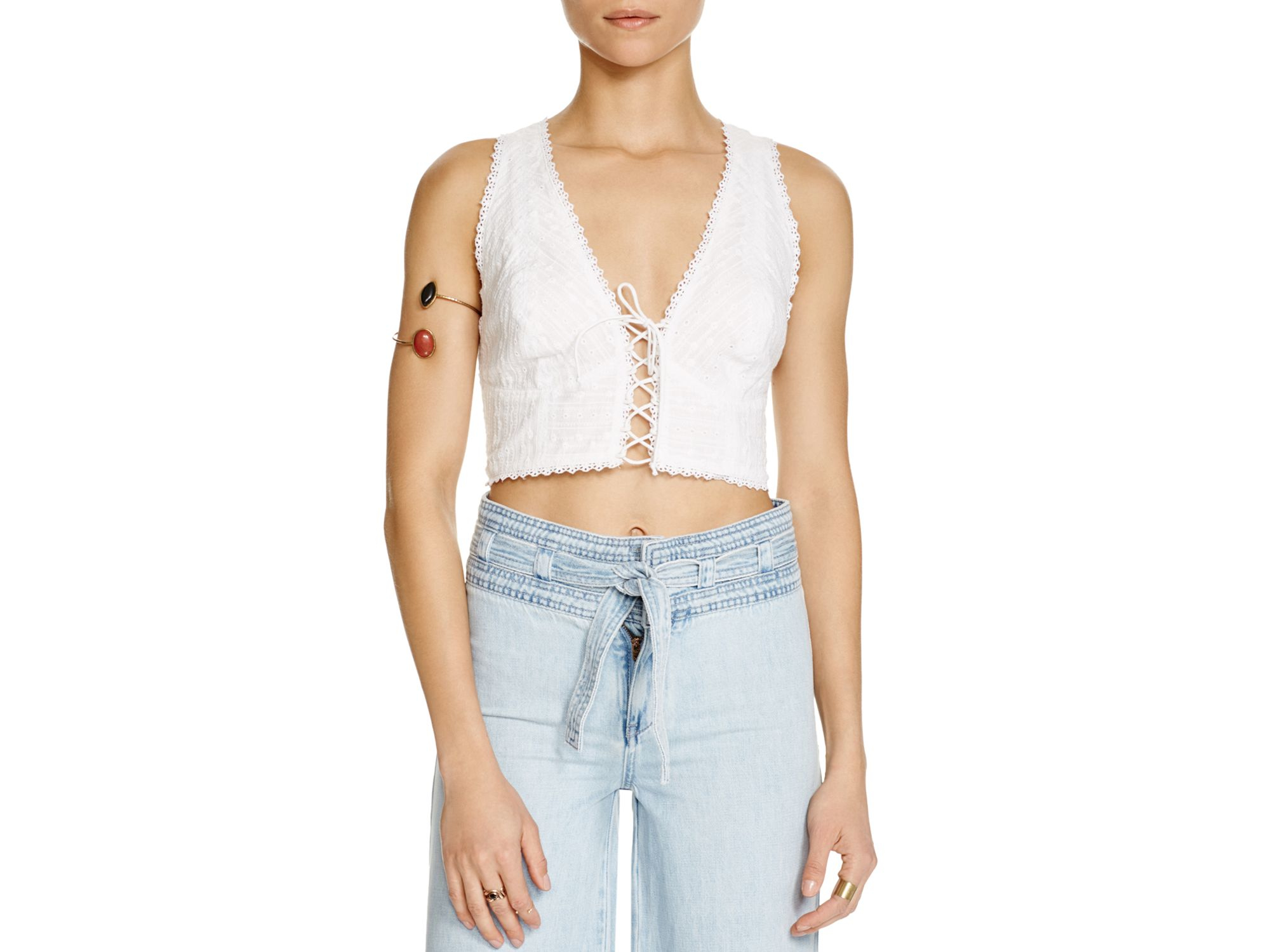 3b0cef5f00182 Lyst - Free People As You Wish Crop Top in White