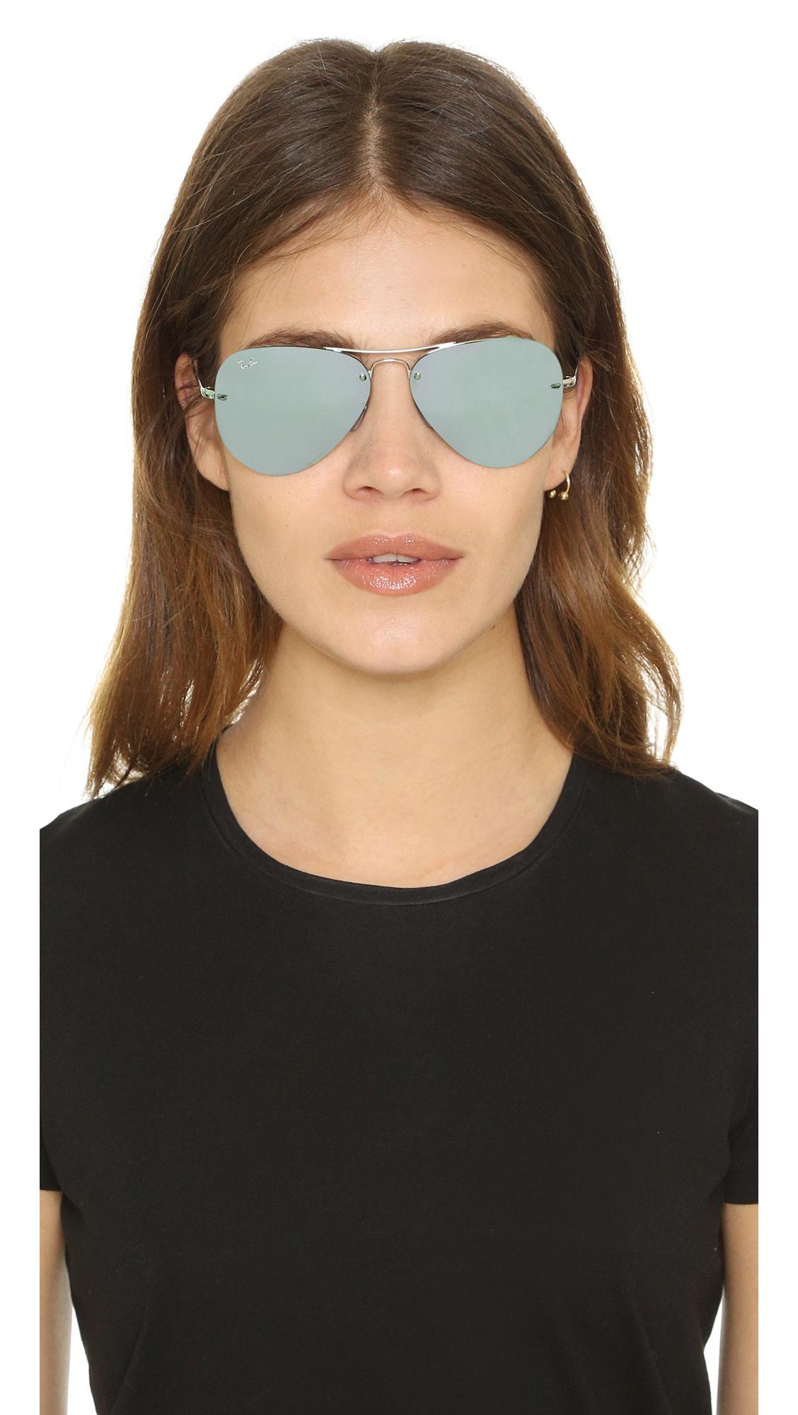 6b6aa2f745 ... new arrivals lyst ray ban highstreet mirrored aviator sunglasses in  black b1c71 3c661