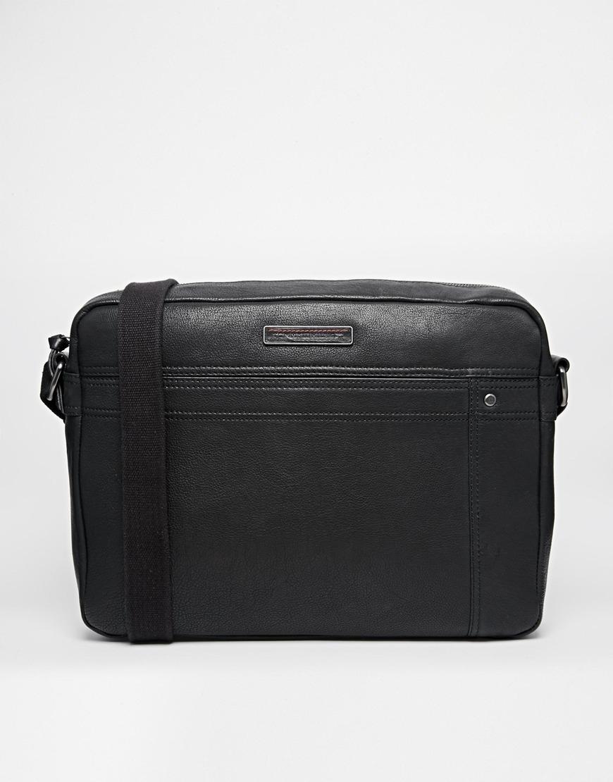 18c5cc4f0ae Lyst Tommy Hilfiger Rueben Leather Messenger Bag In Black For Men