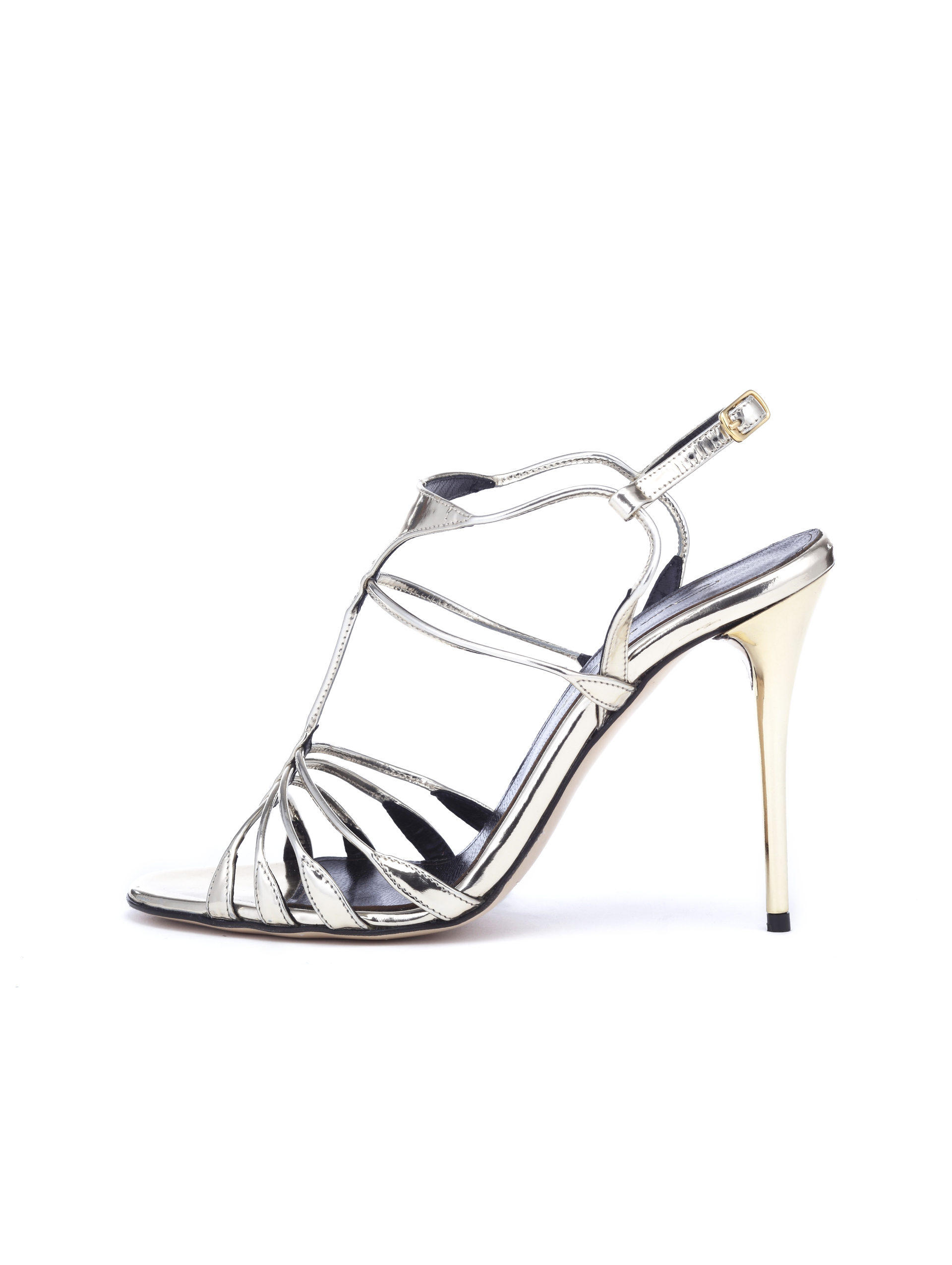 Goat leather work gloves - Oscar De La Renta Platinum Specchio Noelia Sandals In Metallic Lyst