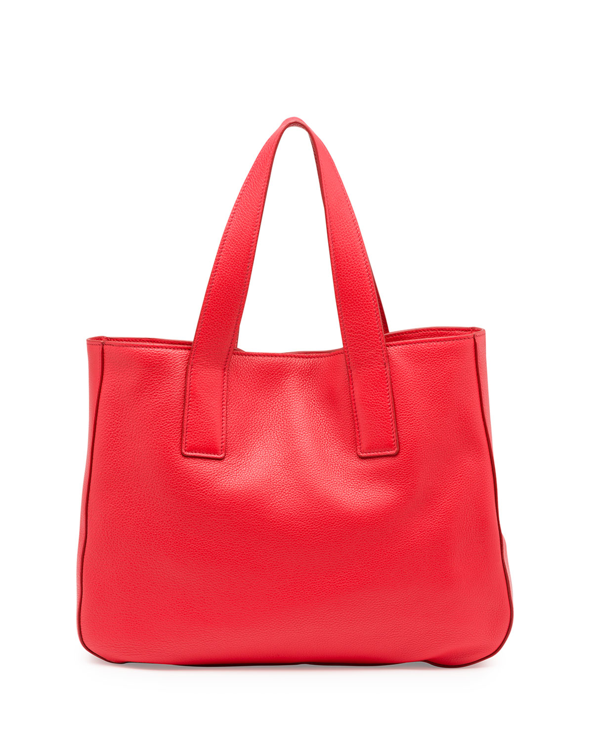 2ee55829cc prada baby bag sale - Prada Vitello Daino Leather Tote Bag in Red (LACCA)