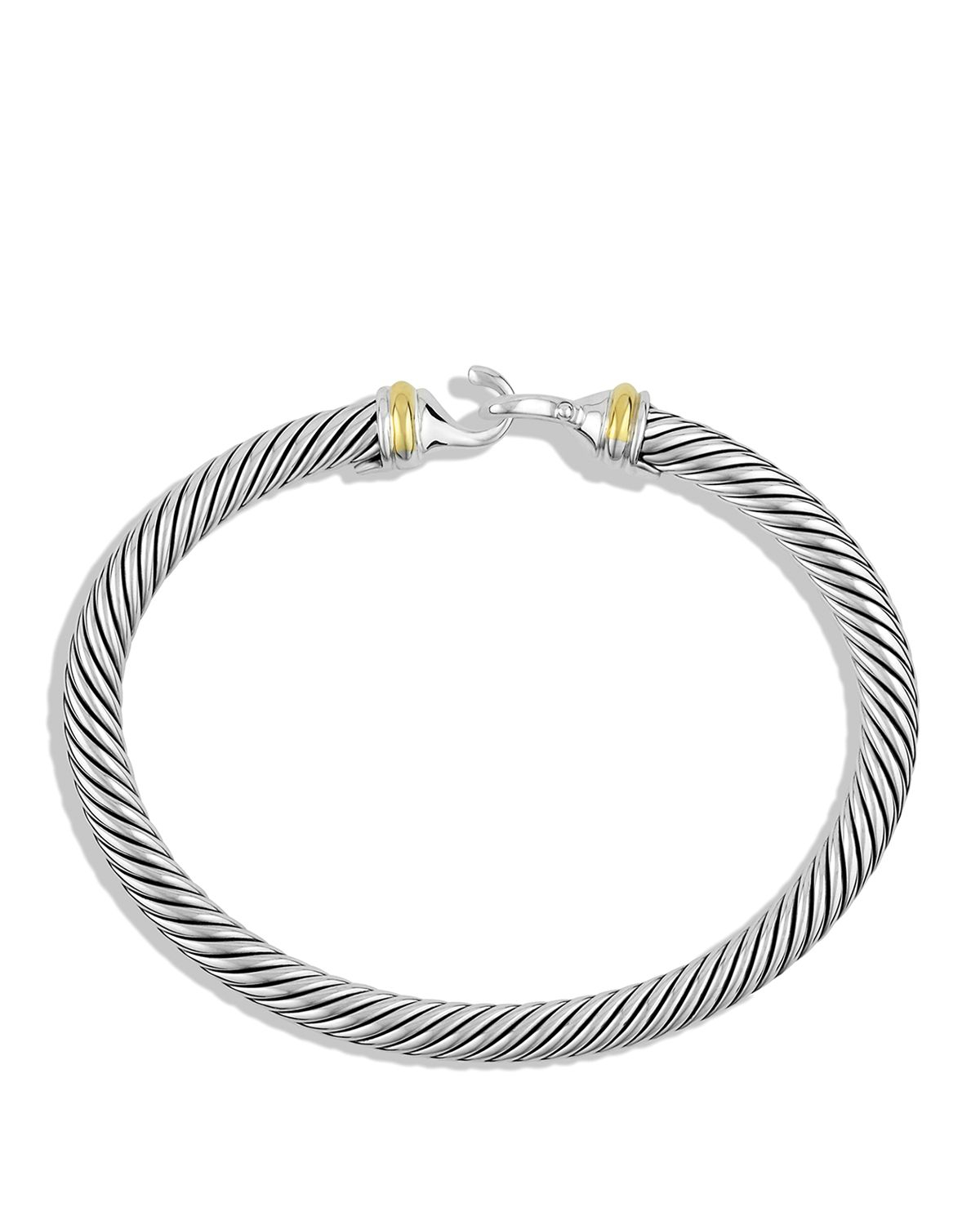 Lyst david yurman cable buckle bracelet with gold in for David yurman inspired bracelet cable