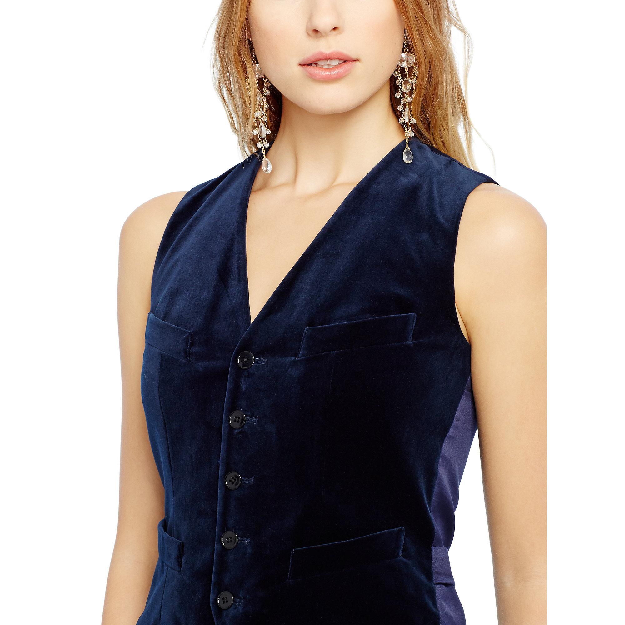 how to wear a velvet vest women
