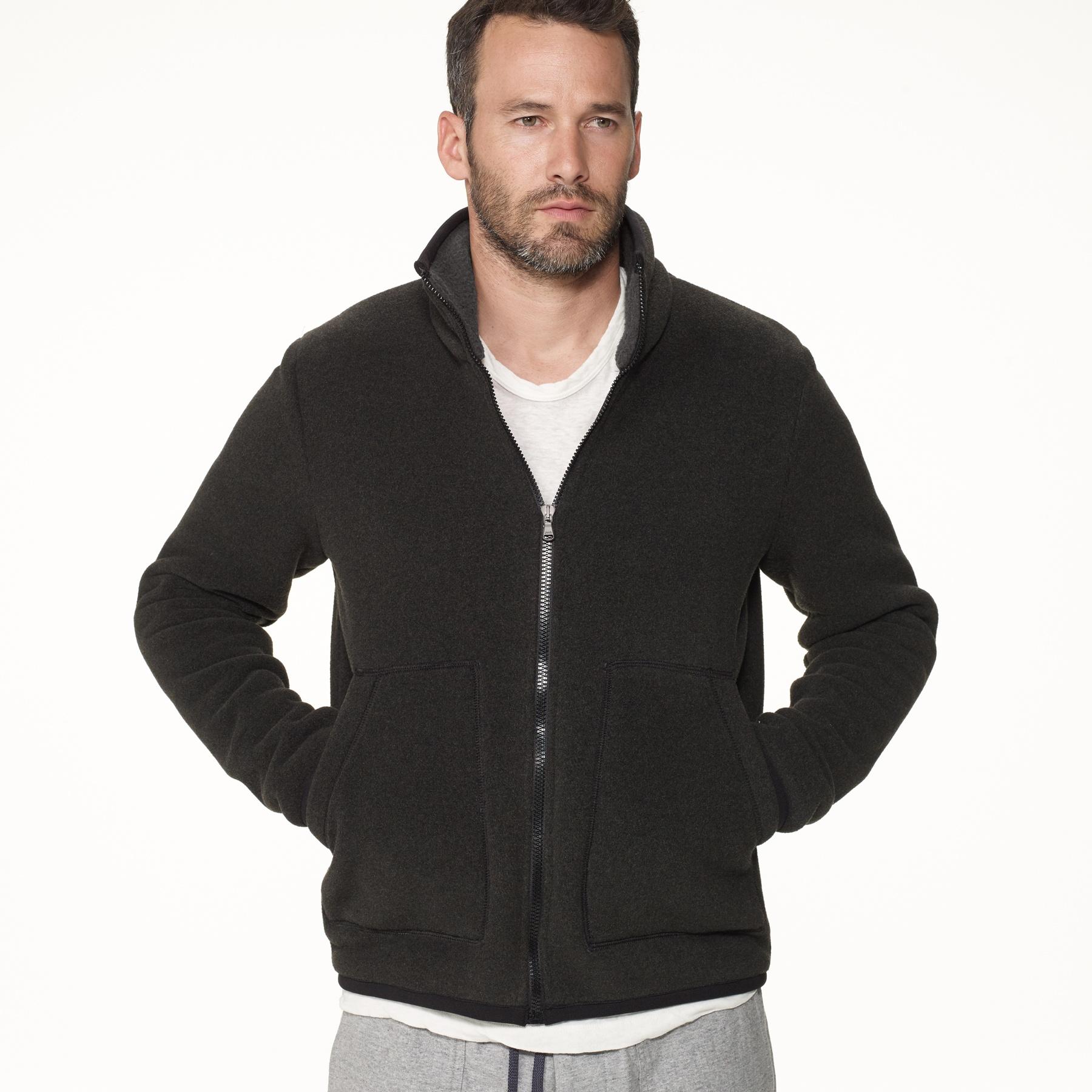 James perse Yosemite Polar Fleece Zip Up Jacket in Gray for Men | Lyst