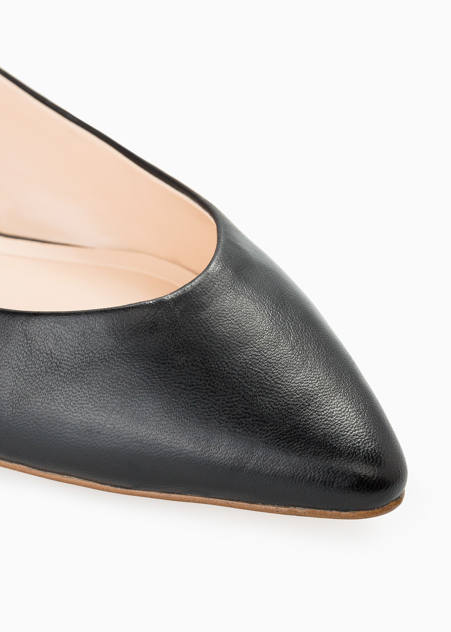 mango leather flat shoes in black lyst