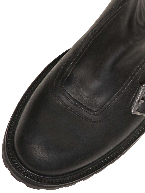Lyst Belstaff Quot Crossdale Quot Leather Amp Canvas Biker Boots