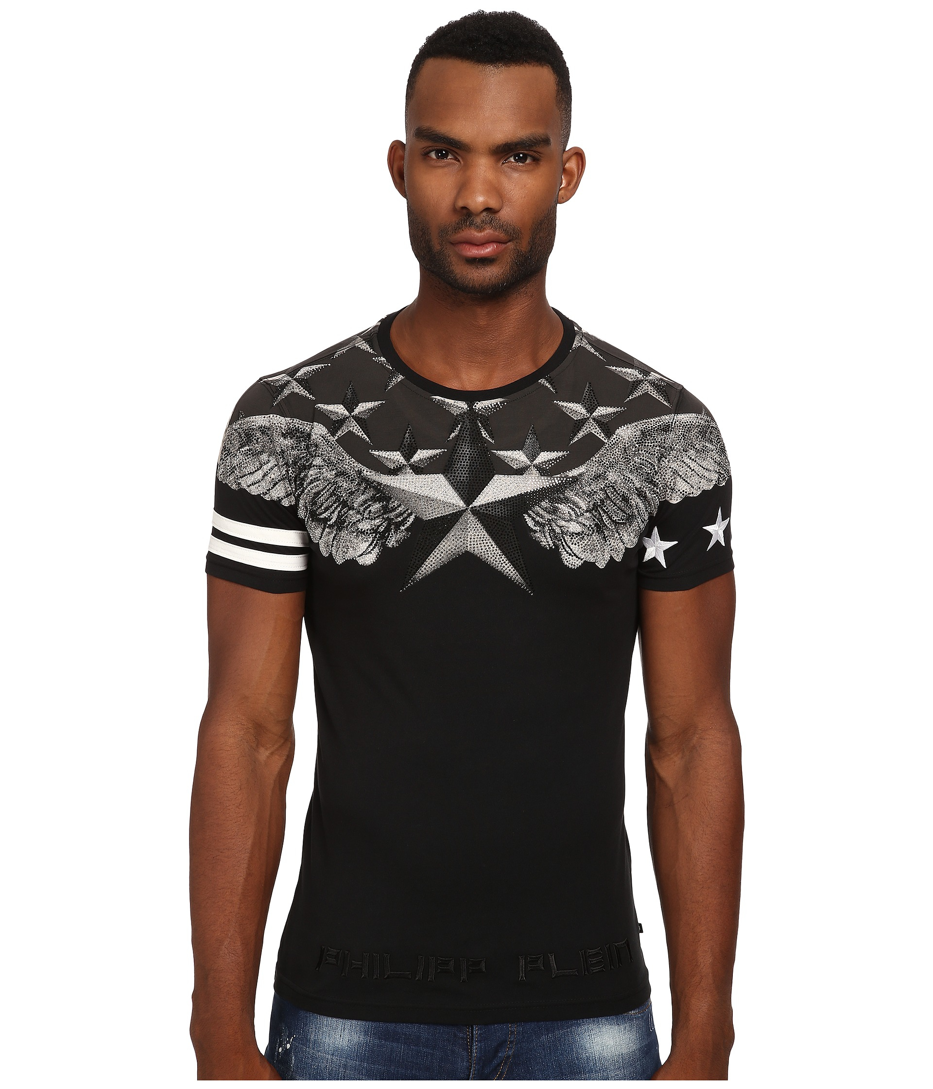 lyst philipp plein universe tee shirt in black for men. Black Bedroom Furniture Sets. Home Design Ideas