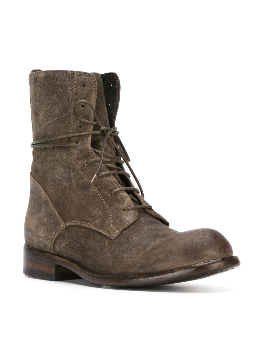 Model Officine Creative Lexikon Leather Ankle Boots In Brown   Lyst