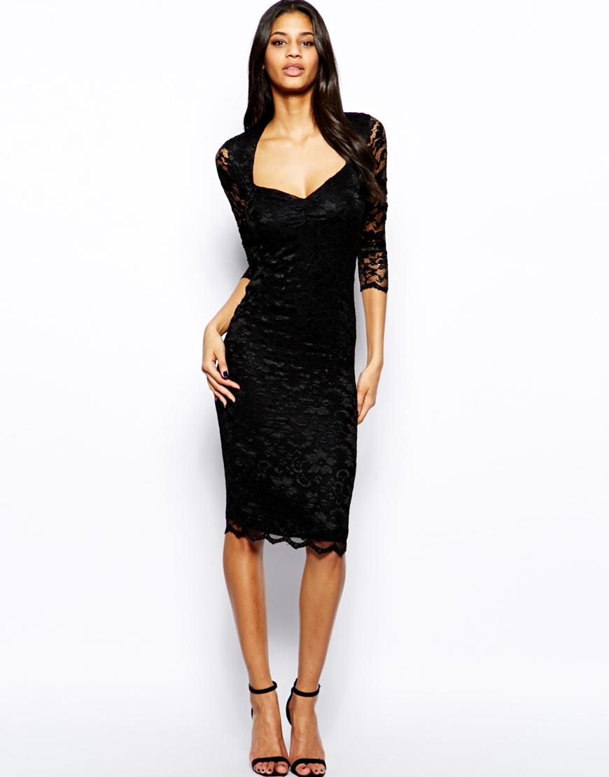 Midi Dress Sweetheart Neckline
