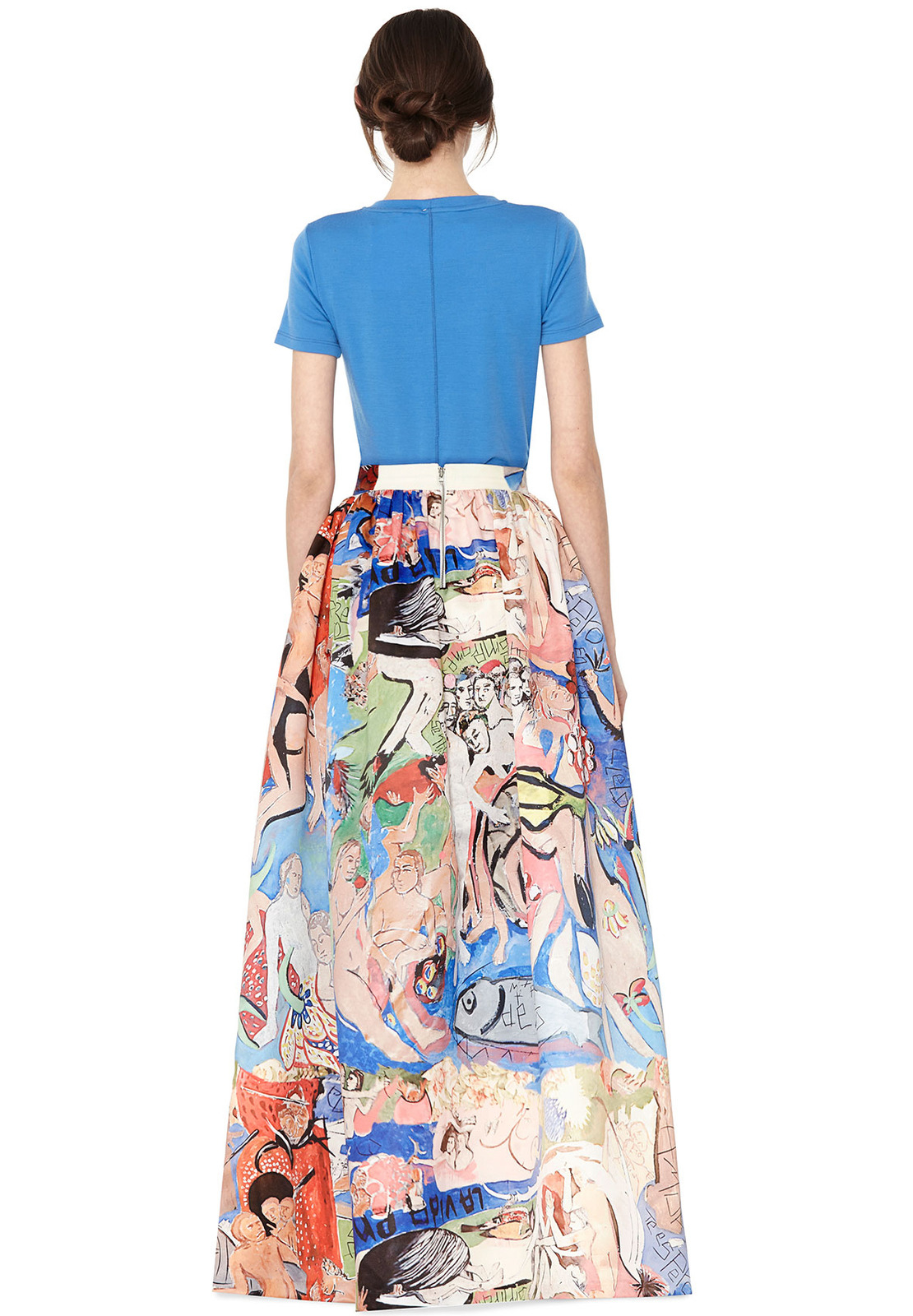 Alice   olivia Tina Long Ball Gown Skirt in Natural | Lyst