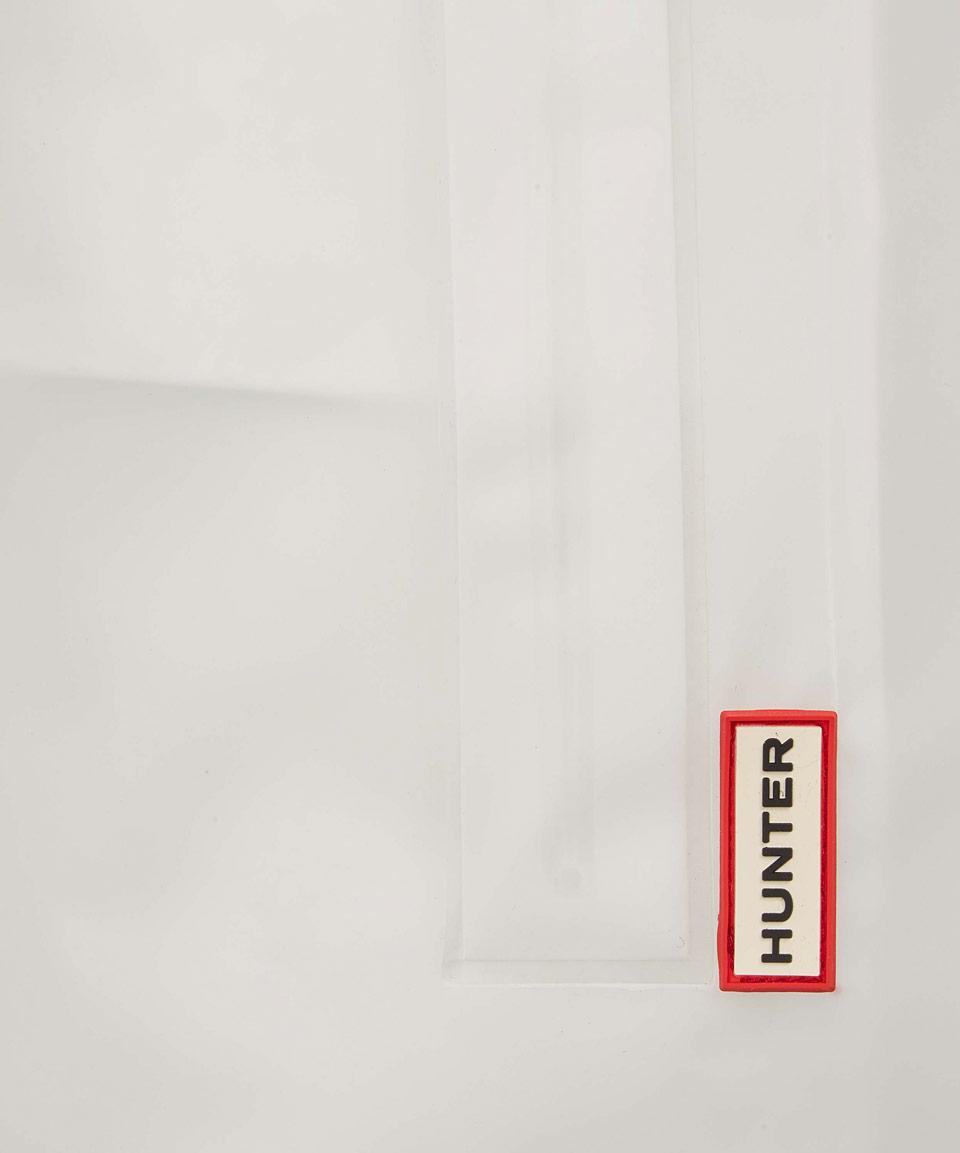 Hunter White Clear Hooded Vinyl Smock Jacket In White Lyst