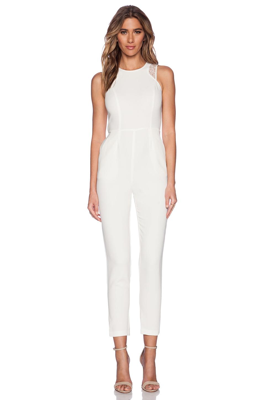 Lyst - Bcbgeneration Sleeveless Jumpsuit In White
