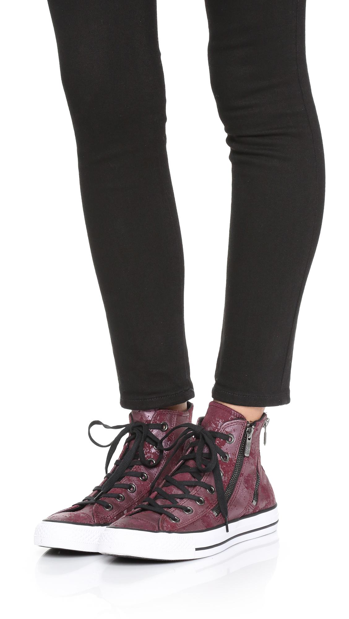 5803b3802e389 reduced converse chuck taylor all star dual zip high top sneakers deep  c87a9 4e163