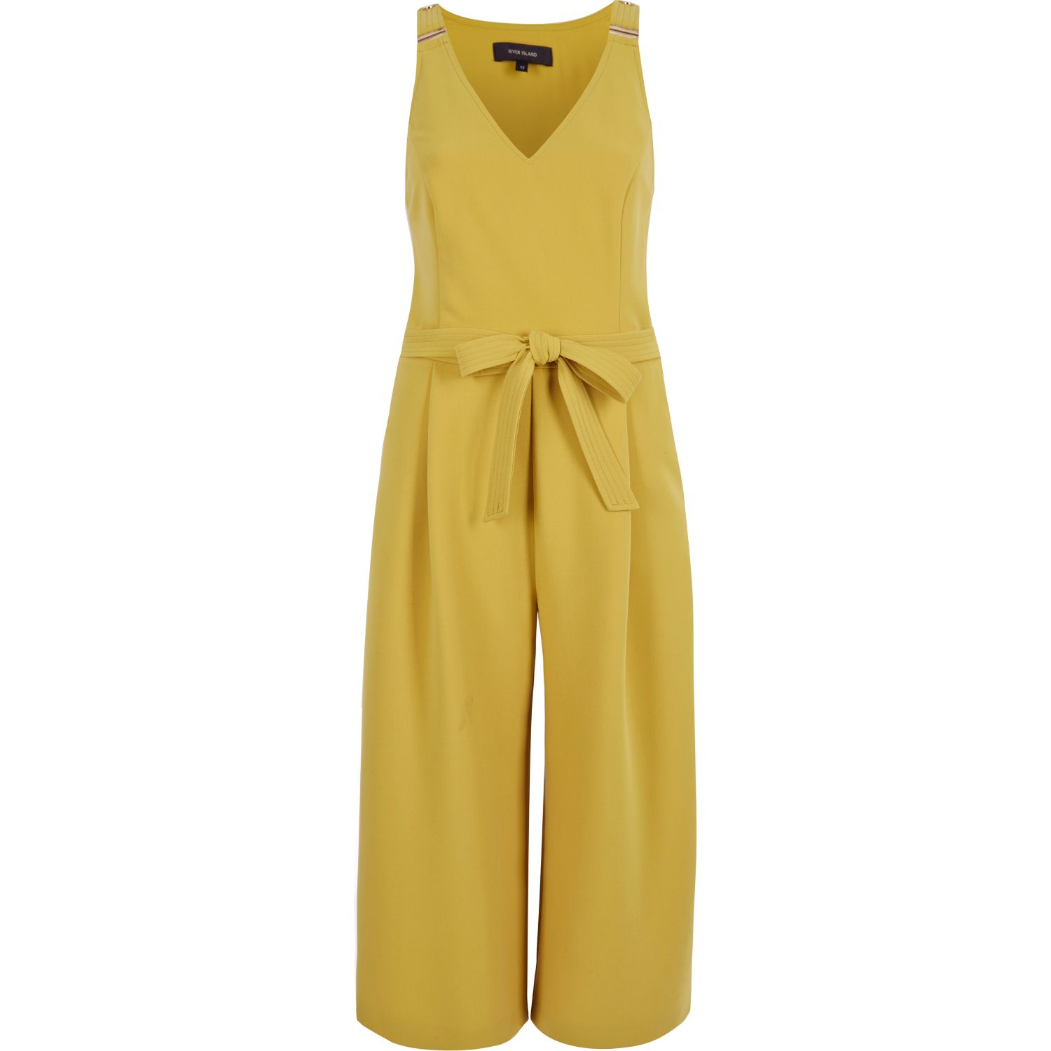 8fb6deb0670 Lyst - River Island Yellow Culotte Jumpsuit in Yellow
