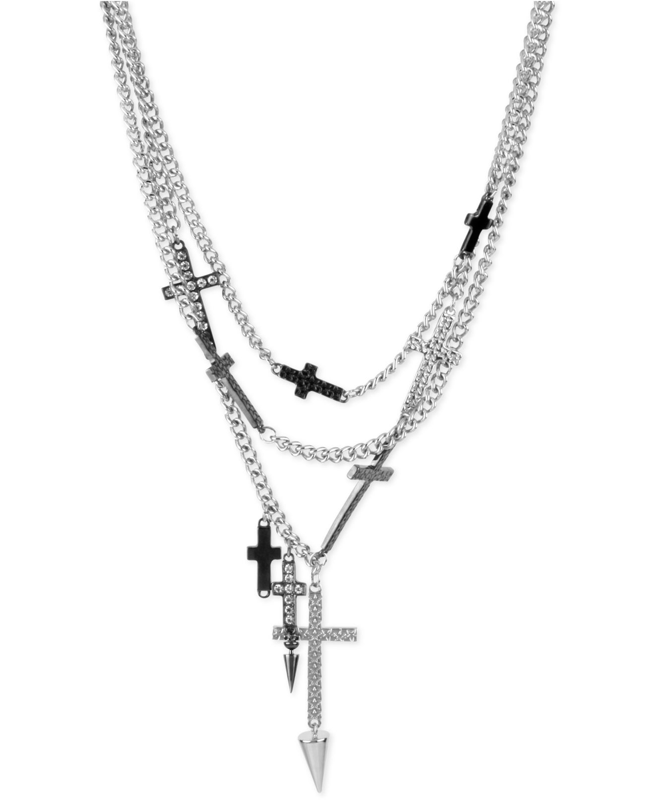 Kc Designs Byzantine Cross Necklace White Gold 1 together with Roberto Coin Tiny Treasures Diamond And 18k White Gold Baby Cross Necklace White Gold likewise Hbn14 3338svcl Hair Band 3pcs Set Silver furthermore David Yurman Midnight Melange Oval Pendant With Diamonds additionally Armenta Diamond Cravelli Cross Large Hoop Earrings. on cross purses and wallets