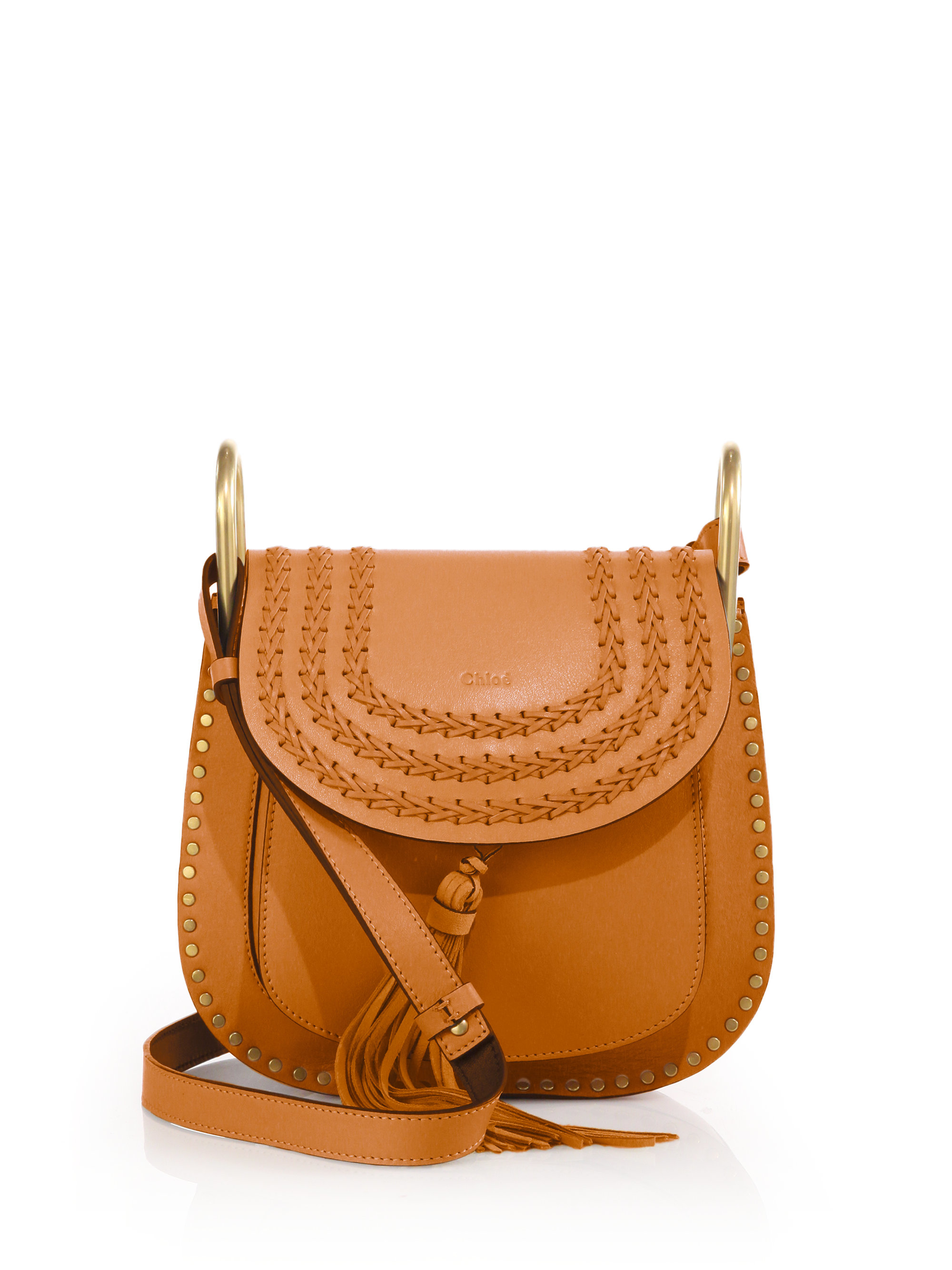 chloe replica wallet - Chlo�� Hudson Small Studded And Braided Leather Shoulder Bag in ...