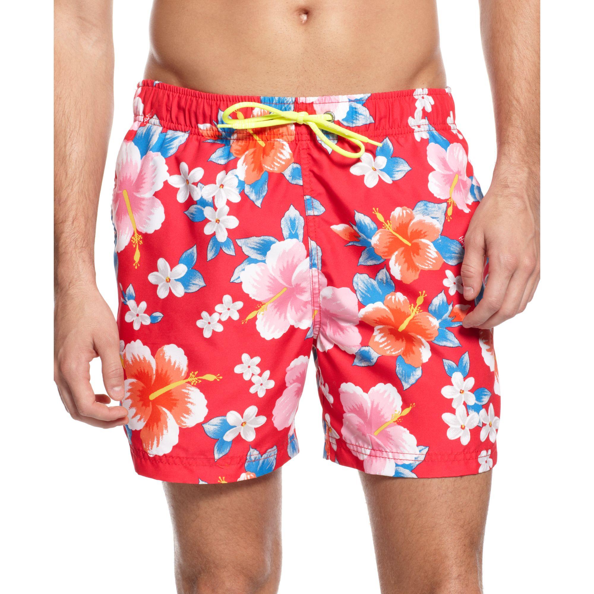 237b5b9c236bd Tommy Hilfiger Flower Print Swim Trunks European Collection for Men ...