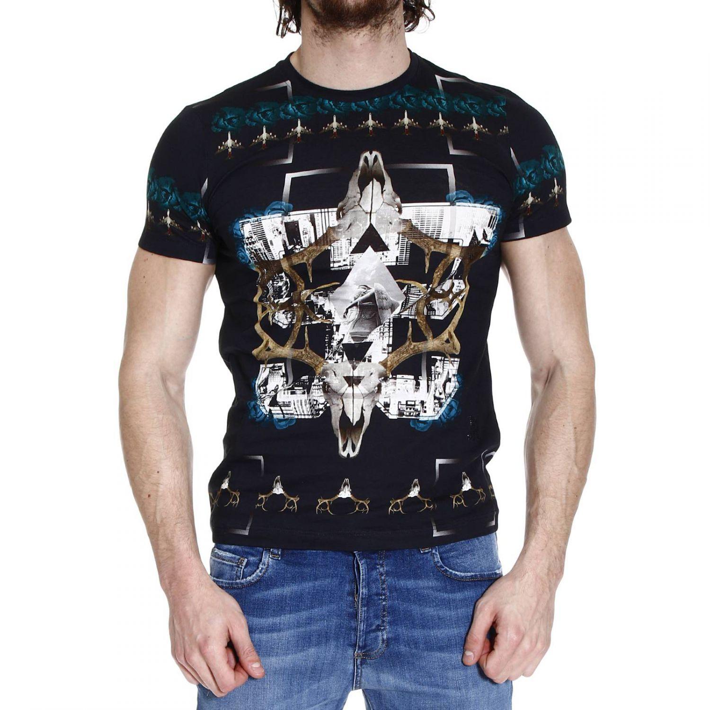 John richmond t shirt half mancica crew neck print aerei e for T shirt printing richmond va