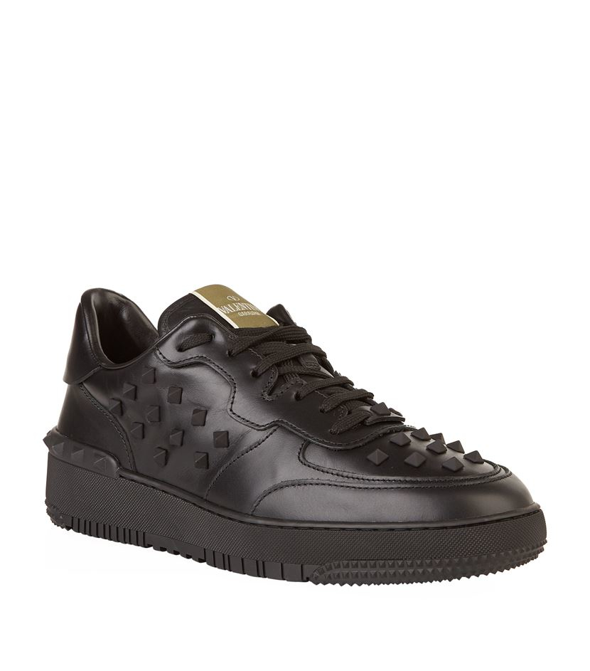 e356c496034625 Valentino Rockstud Basket Sneaker in Black for Men - Lyst