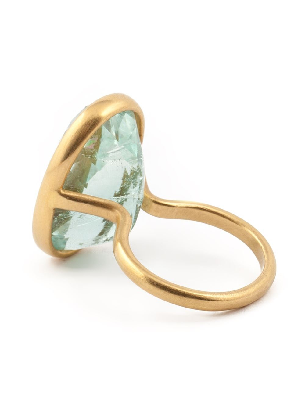 marie h l ne de taillac oval aquamarine ring in metallic