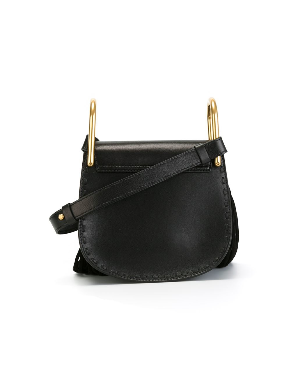 chlo hudson tasseled cross body bag in black lyst. Black Bedroom Furniture Sets. Home Design Ideas