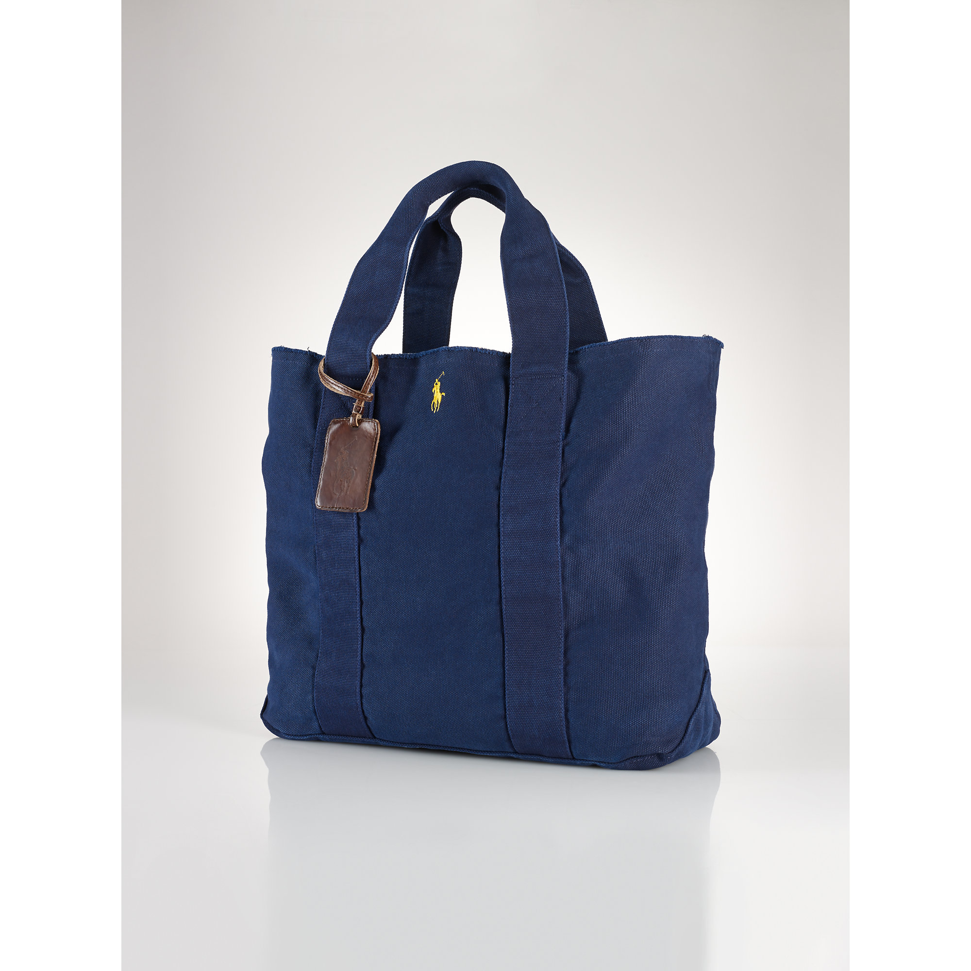 ae2b711dcec8 Lyst - Polo Ralph Lauren Pony Canvas Tote in Blue
