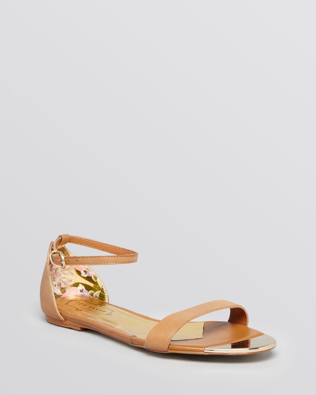 ted baker flat sandals ballena 2 in brown lyst. Black Bedroom Furniture Sets. Home Design Ideas
