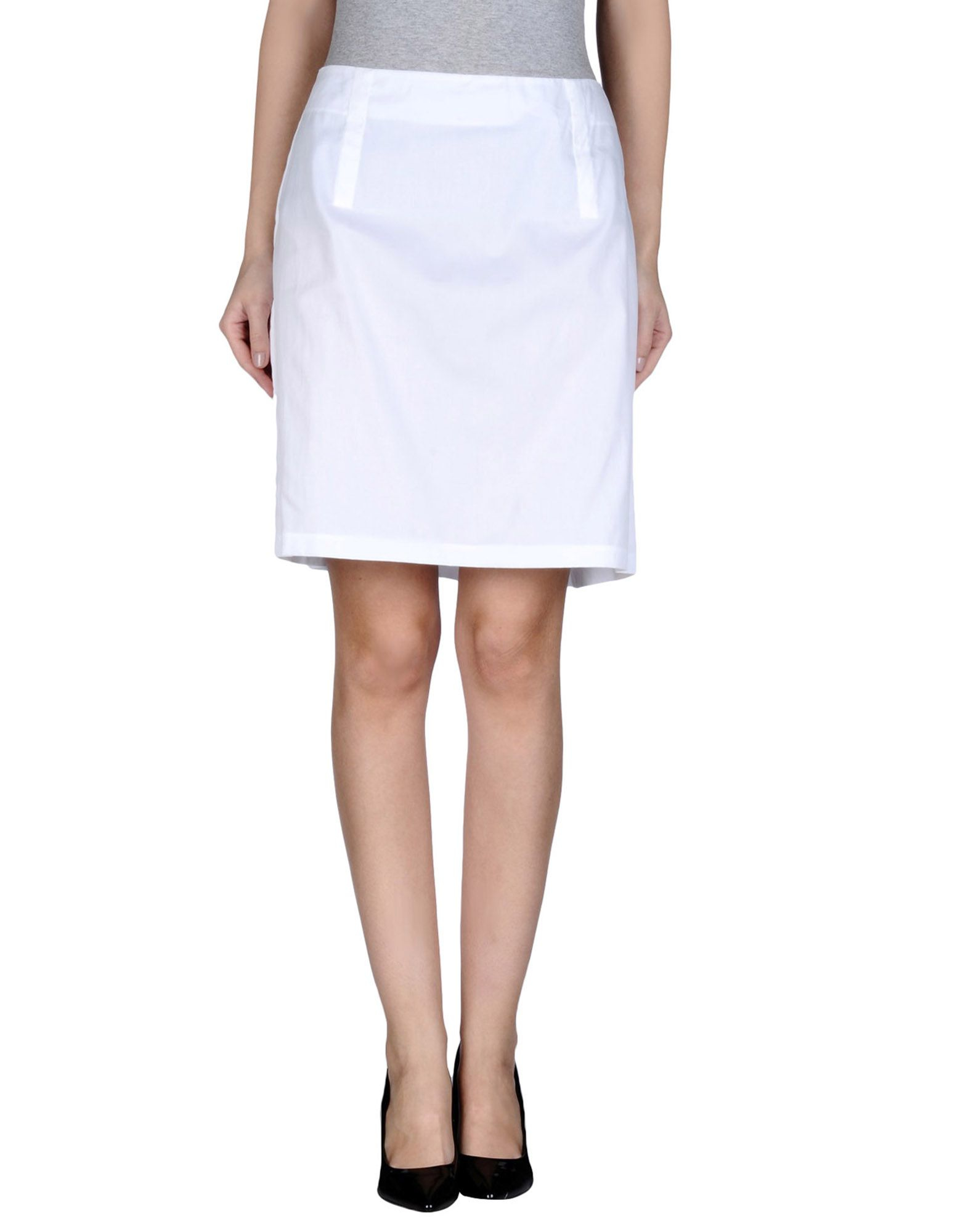 jil sander knee length skirt in white lyst