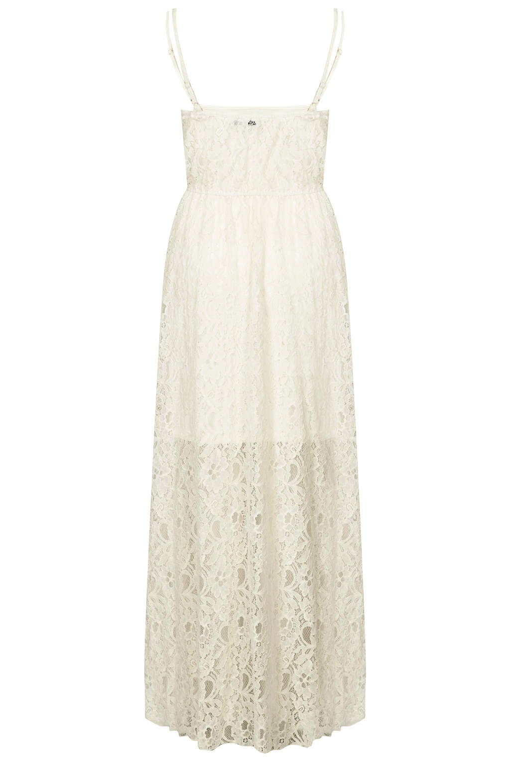Topshop Cream Lace Button Front Maxi Dress By Rare In