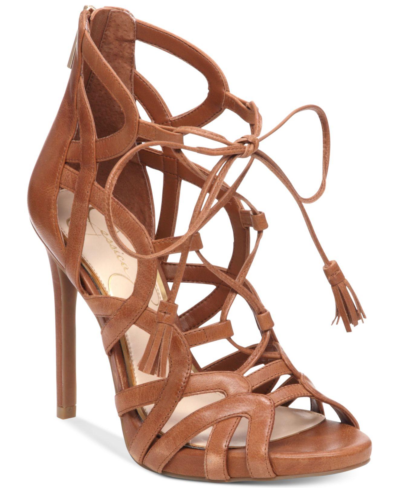 Jessica Simpson Racine Lace Up High Heel Gladiator Sandals