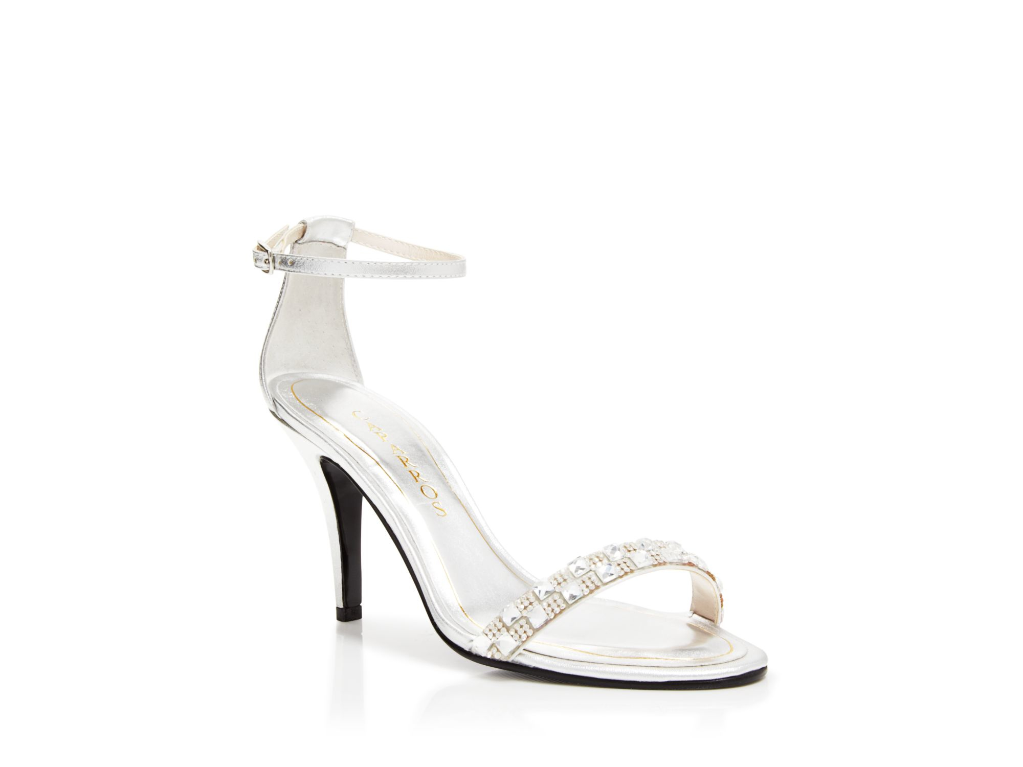 cf9c963d2ee2 Lyst - Caparros Open Toe Evening Sandals - Sequoia High Heel in Metallic