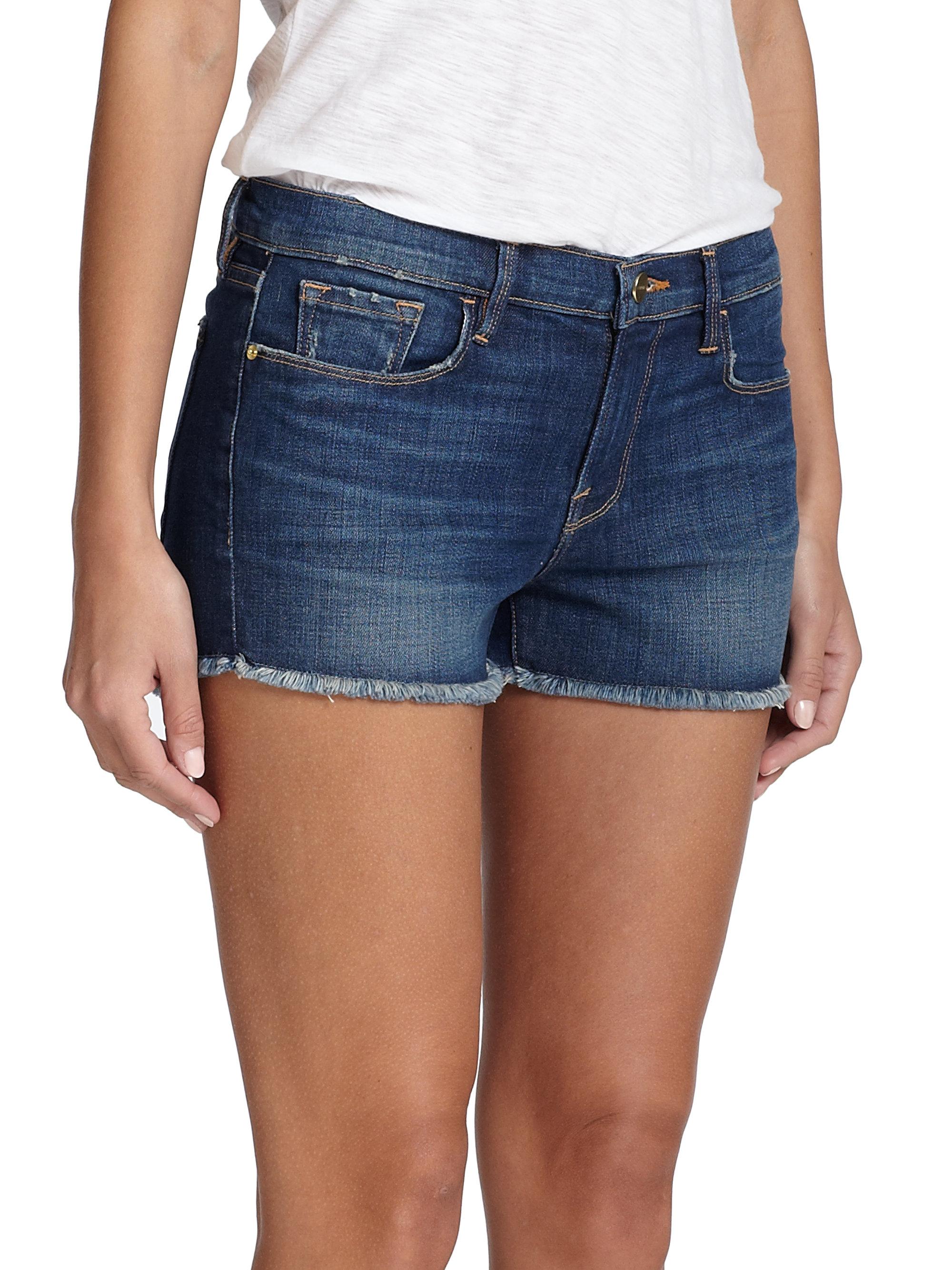11fc68b5dc2 frame-fulham-le-cut-off-denim-shorts-blue-product-3-113308572-normal.jpeg