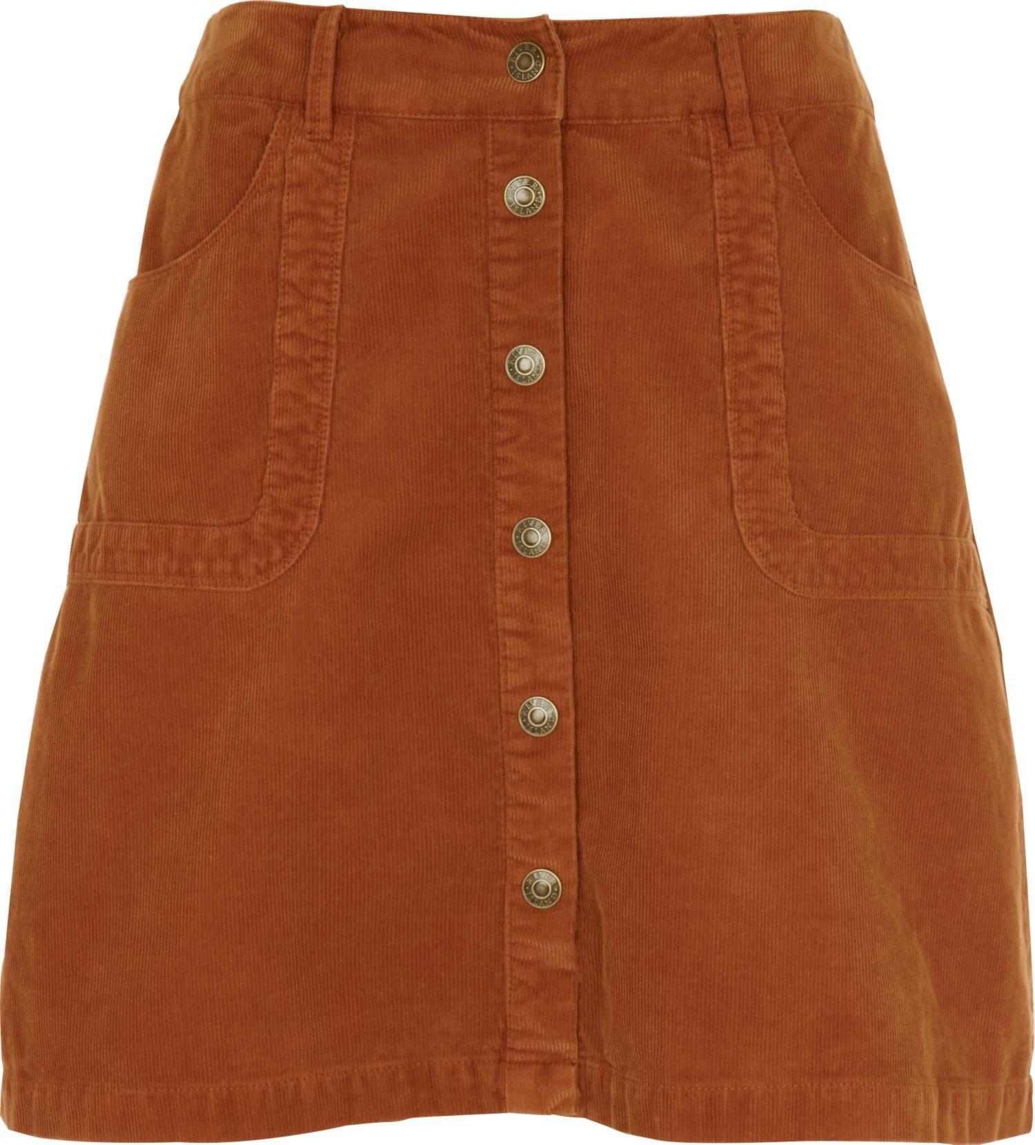 river island orange a line cord skirt in orange lyst