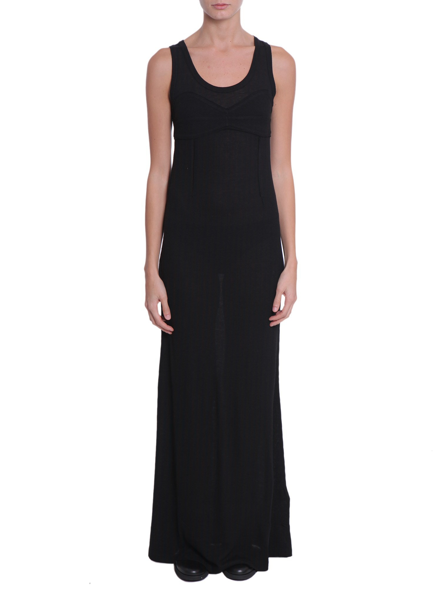Mm6 by maison martin margiela long dress in black nero for Mm6 maison margiela