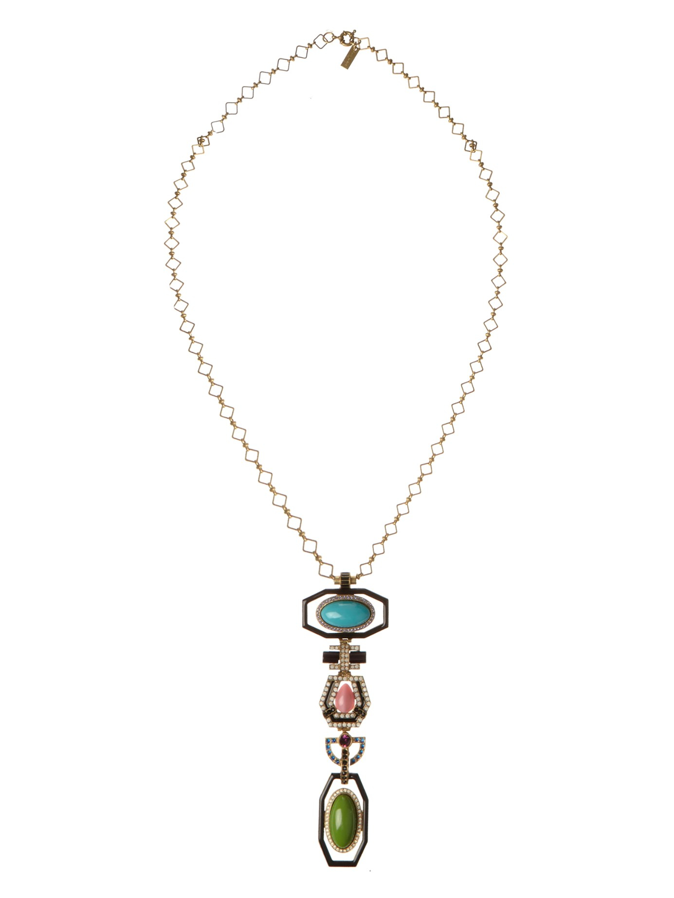 Etro Bead and crystal-embellished pendant necklace fHeO7u2