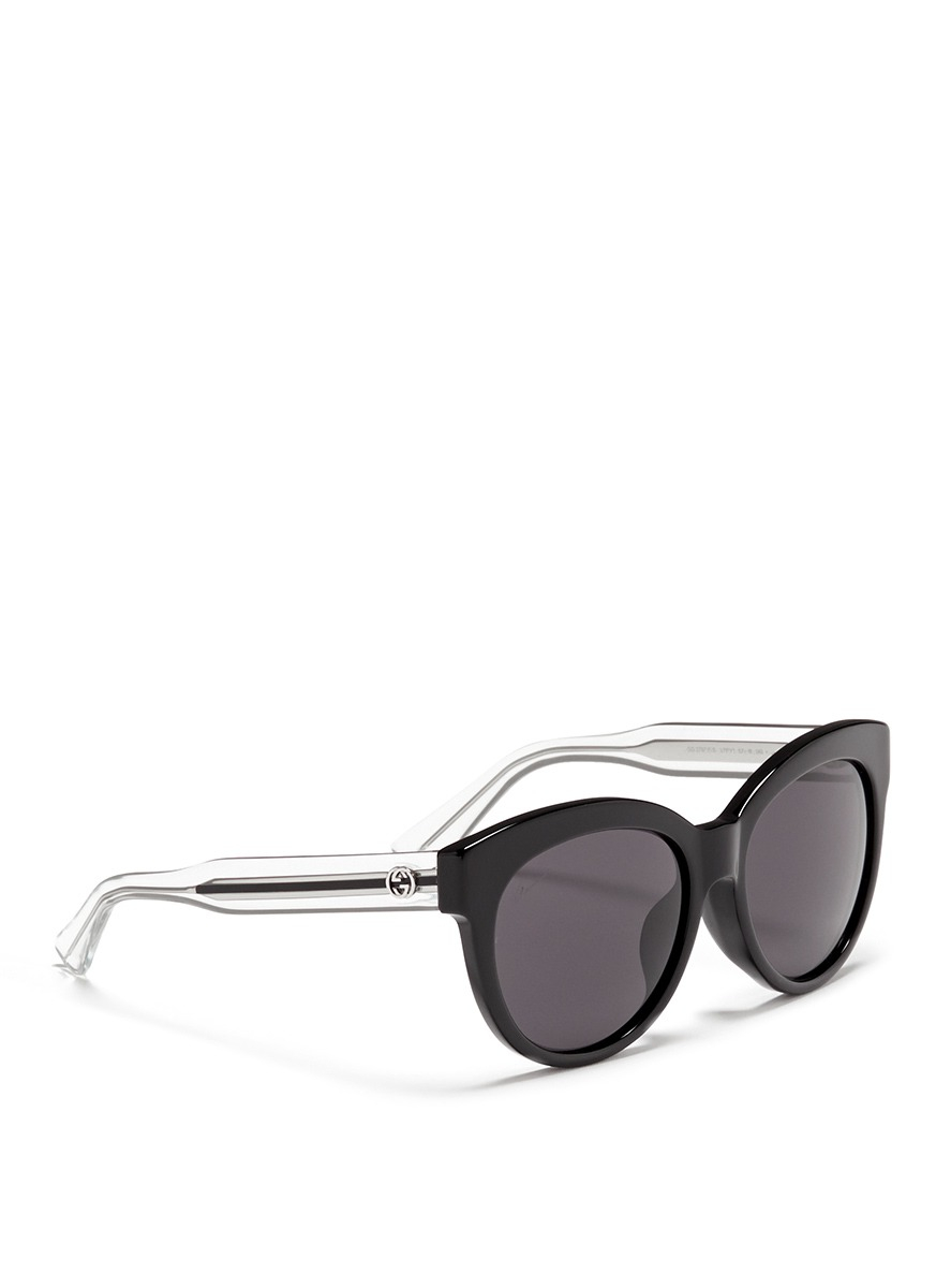 Lyst Gucci Wire Core Temple Acetate Sunglasses In Black
