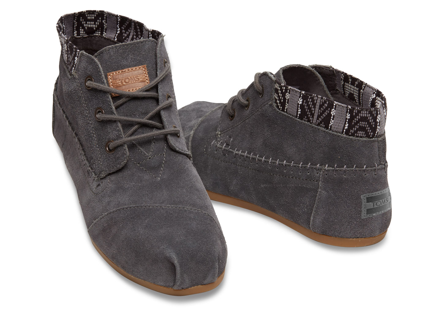 toms grey trim suede s boots in gray lyst