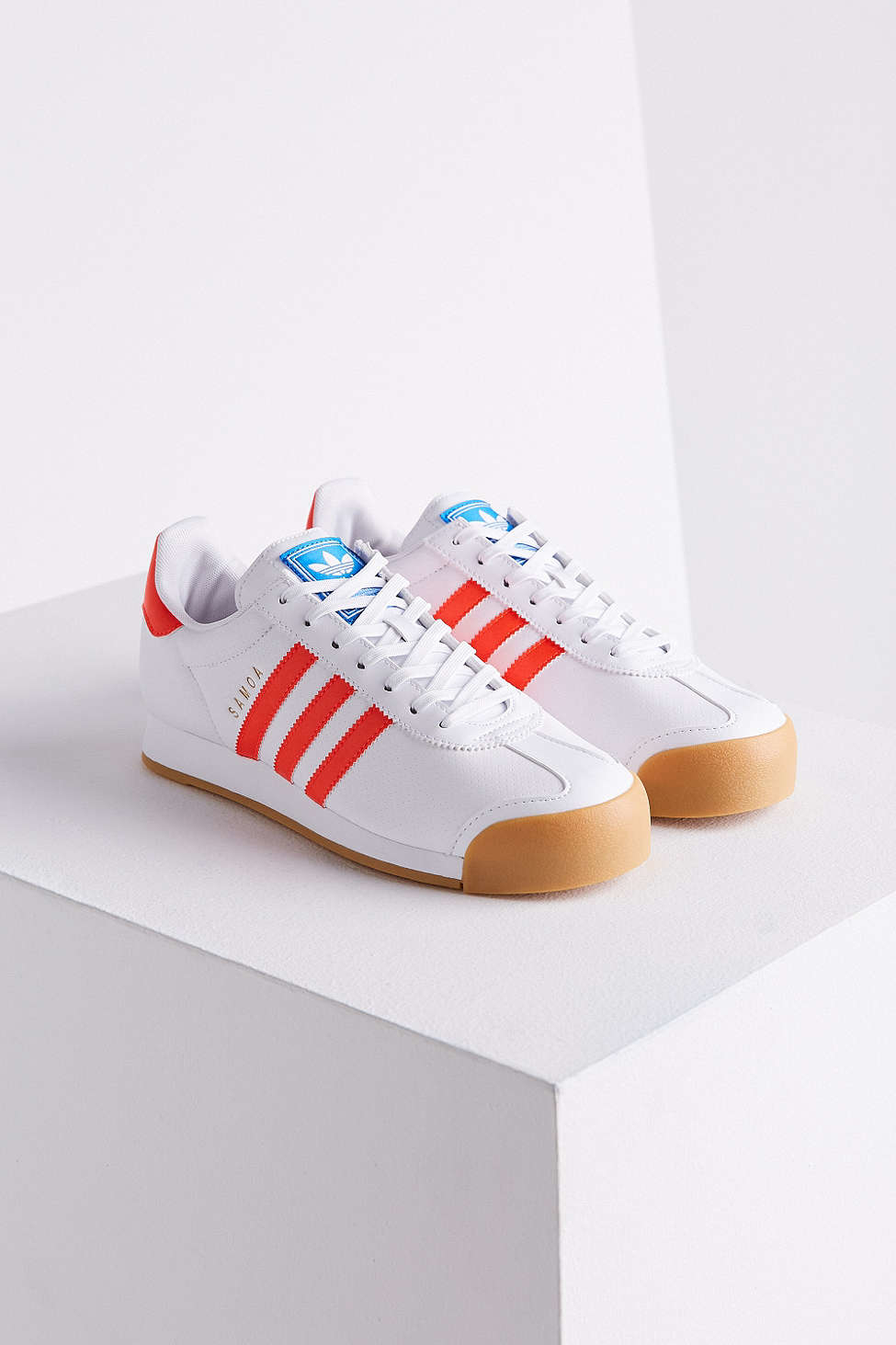 huge selection of 4e3d0 1caa2 ... promo code for lyst adidas originals samoa perforated gum sole sneaker  in white 3e320 fa93c