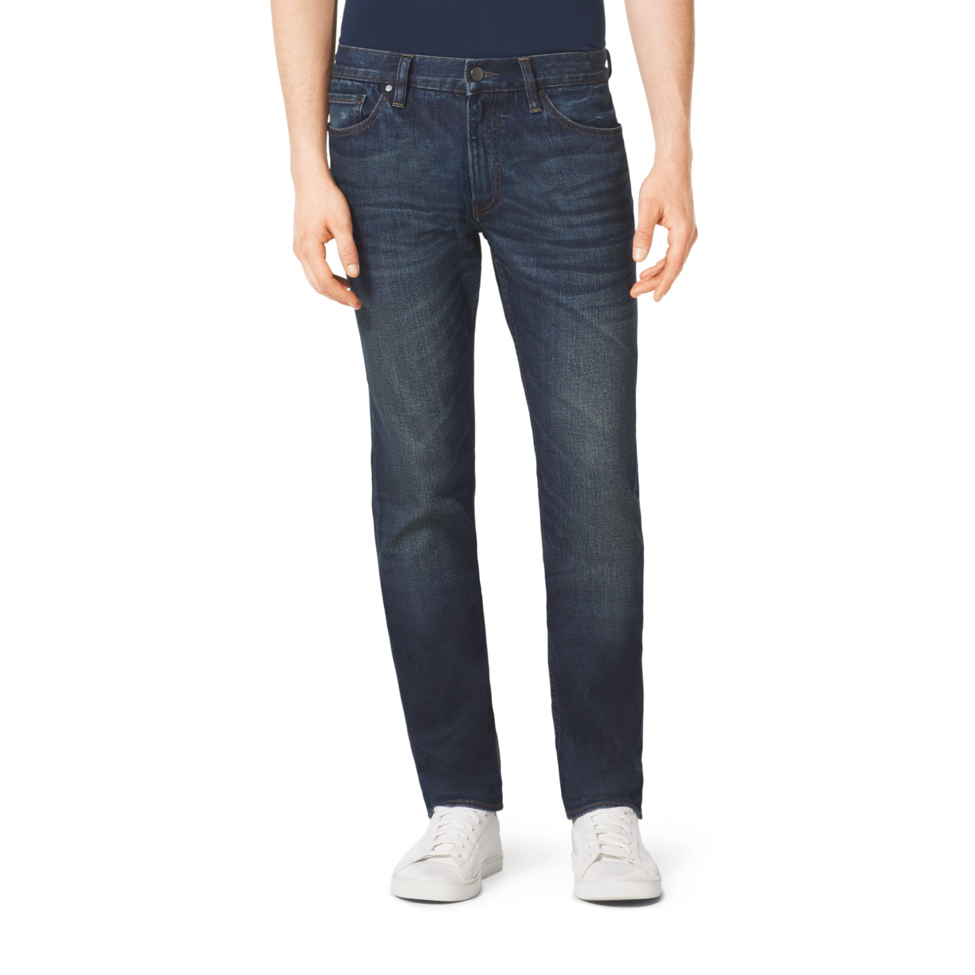 lyst michael kors tailored fit jeans in blue for men. Black Bedroom Furniture Sets. Home Design Ideas