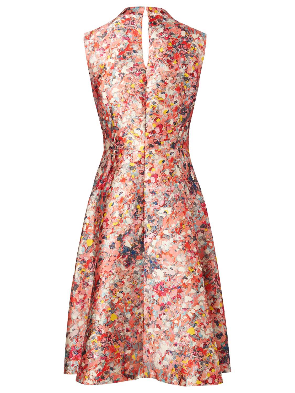 L K Bennett Suze Ditsy Floral Print Full Skirt Dress In