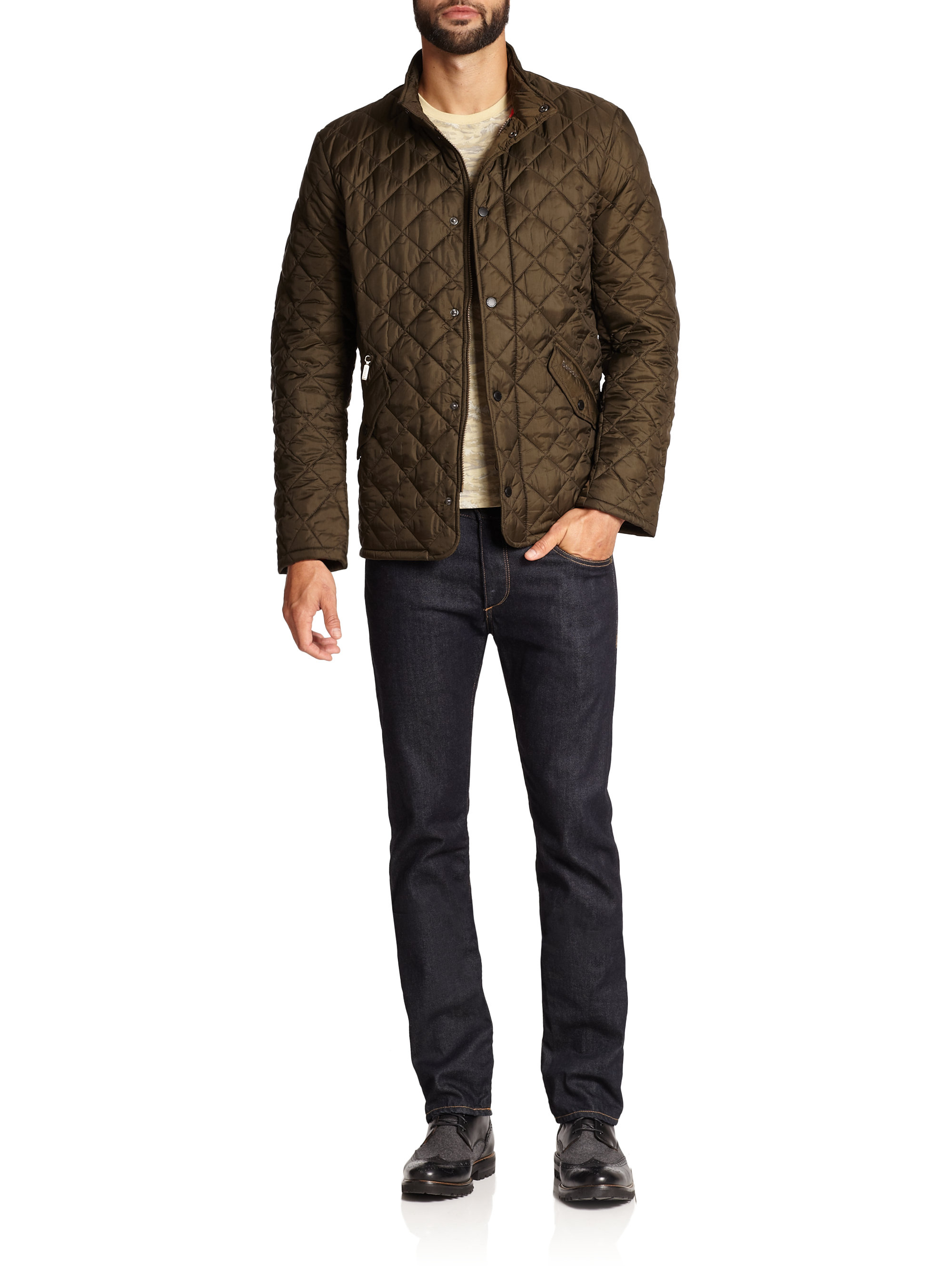 Barbour Flyweight Quilted Jacket In Green For Men Lyst