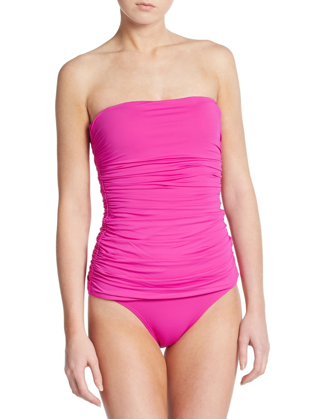 c7beca8afb764 Lyst - Ivanka Trump One-Piece Ruched Swimsuit in Pink