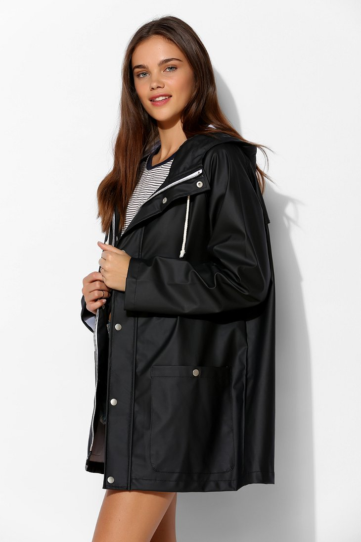 Bdg Fisherman Rain Slicker Jacket in Black | Lyst
