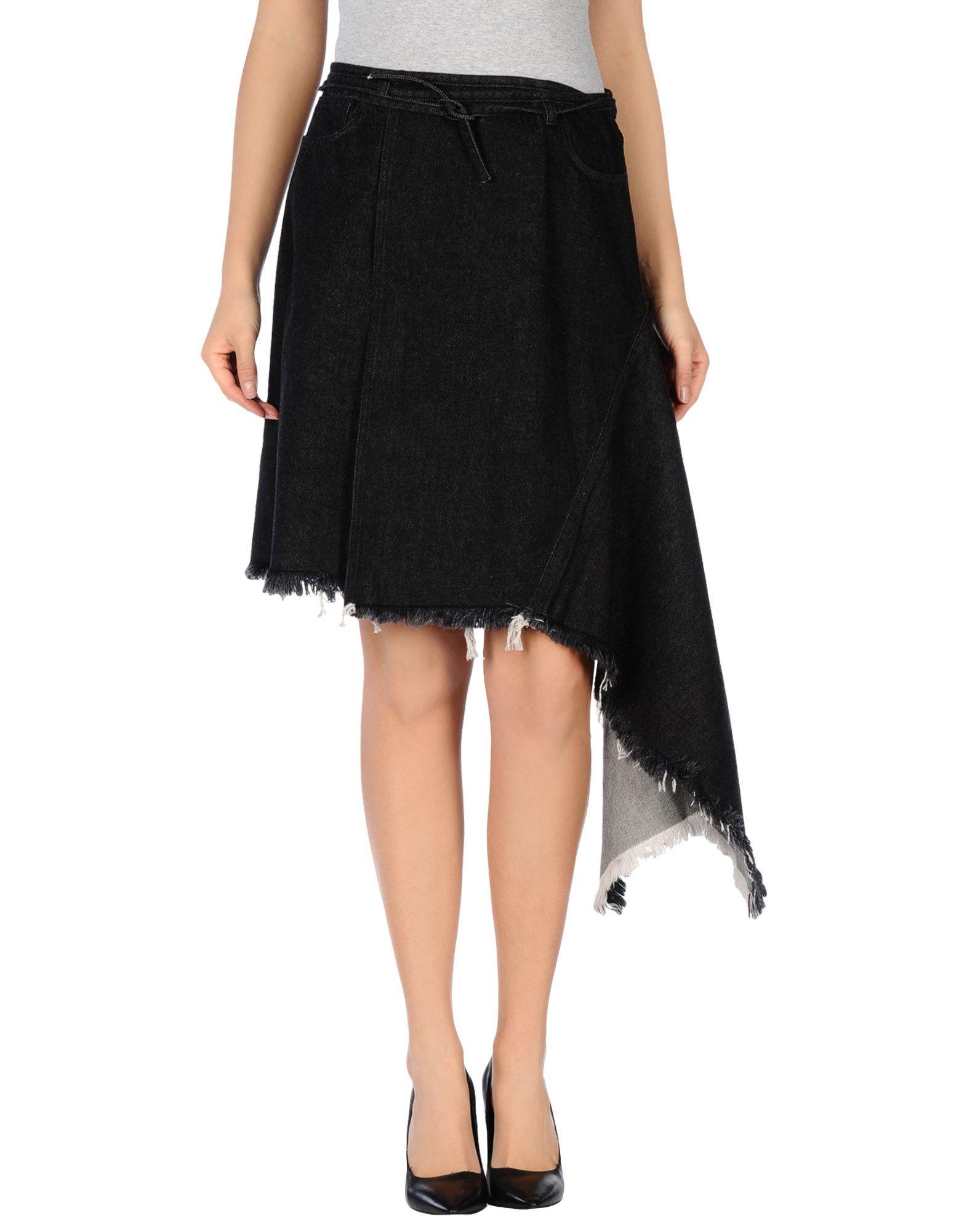 marques almeida denim skirt in black lyst