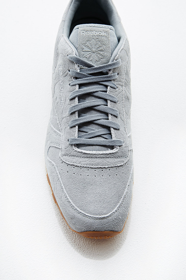 Reebok Classic Leather Embossed Camo Print Trainers in Grey in Gray ... 338b97743f818