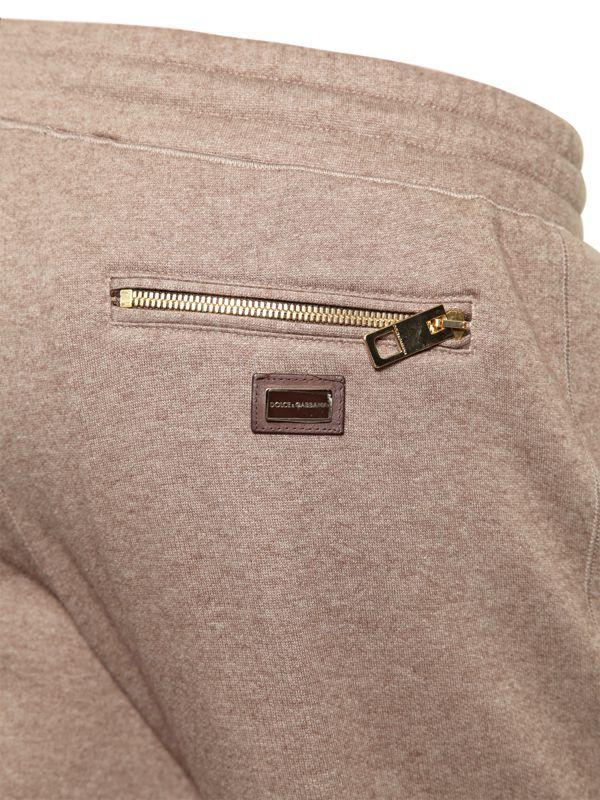 Lyst - Dolce   Gabbana Cashmere Cotton Jogging Trousers in Brown for Men f9959b8e9de8