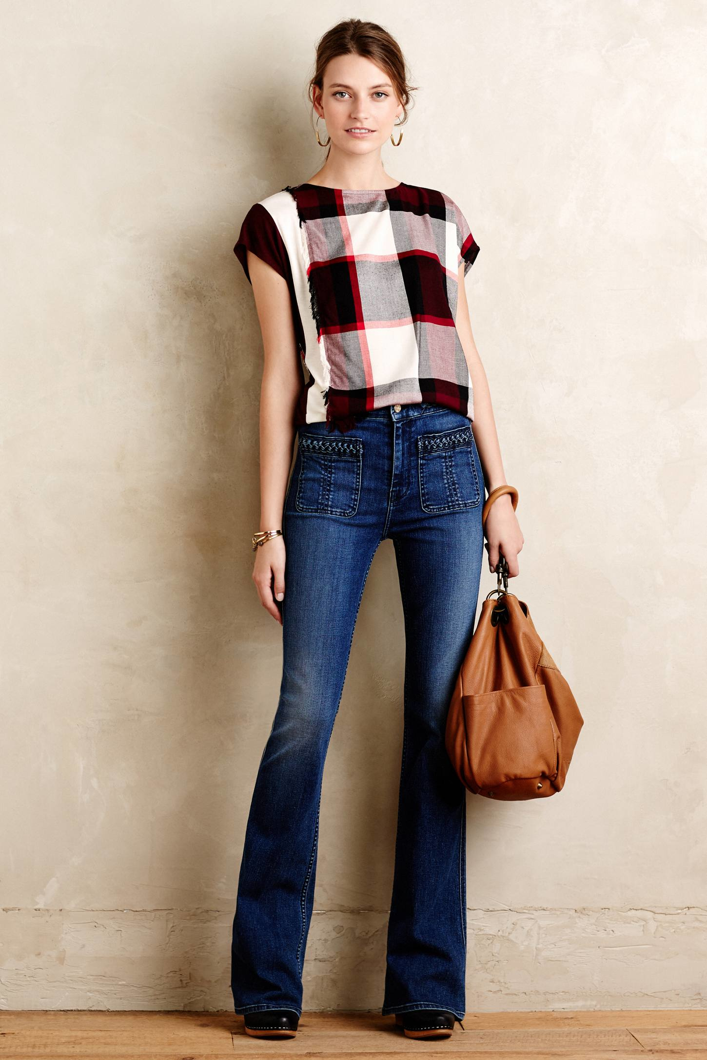 7 for all mankind Braided High-rise Flare Jeans in Blue | Lyst